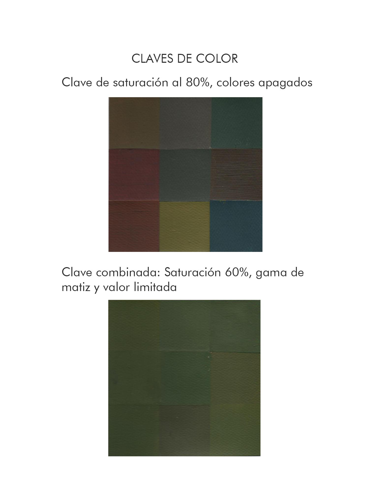 Andrea Santillán, Claves de color